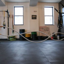 garage turned personal gym